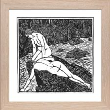 Bathers or Baigneuses Signed - Ready Framed